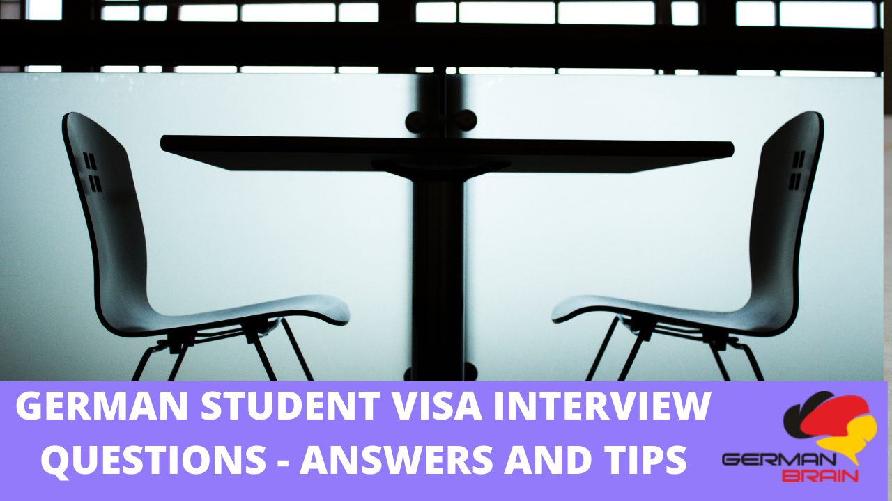 German Student Visa Interview Questions   Answers and Tips ...